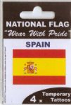 Spain Country Flag Tattoos.